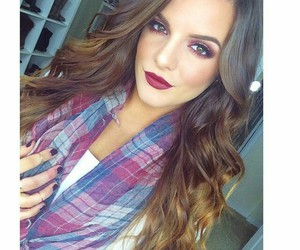 fashion, nail, and ombre hair image