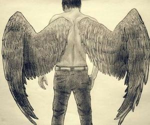 angel, hush hush, and patch image