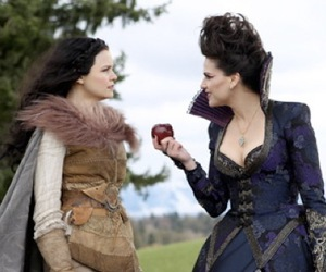 once upon a time, evil queen, and snow white image