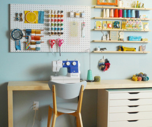 craft room and sewing machine image