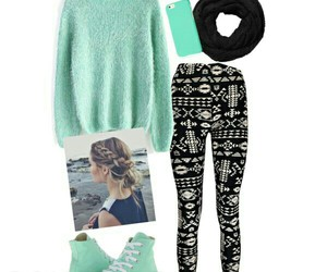 converse, leggings, and outfit image