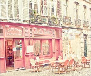 pink, cafe, and paris image