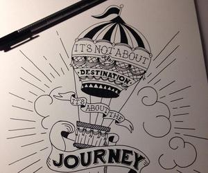 drawing, journey, and art image
