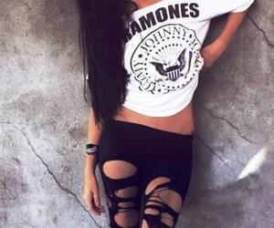 black, ramones, and white image