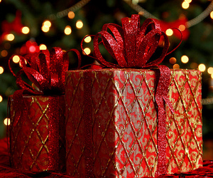 christmas, gifts, and red image