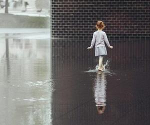 girl, water, and rain image