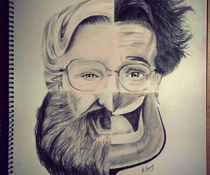 robin williams, rip, and art image