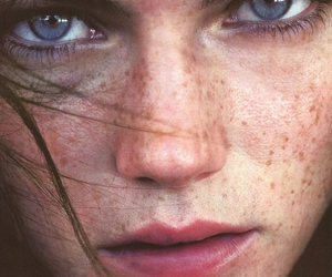girl, eyes, and freckles image