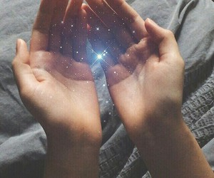 beauty, hands, and universe image