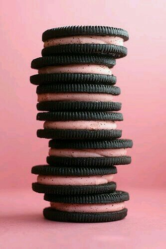 pink oreos uploaded by lane on we heart it