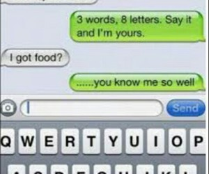 food, funny, and text image