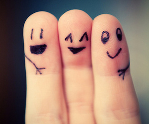 friends, fingers, and smile image
