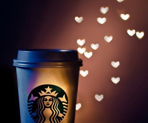 starbucks, coffee, and love image
