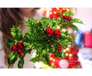 christmas, holly, and lights image
