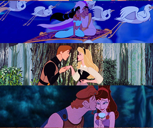 disney, princess, and couple image