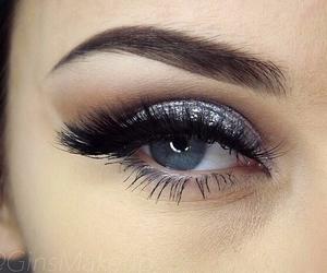 beautiful, eye shadow, and eyebrow image