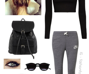 outfit, nike, and clothing image