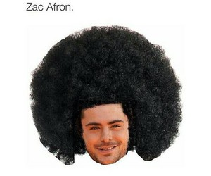 zac, Afro, and funny image