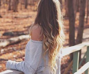 hair, autumn, and fall image