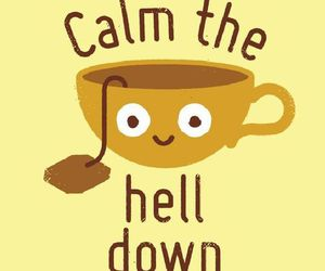 tea, calm, and funny image