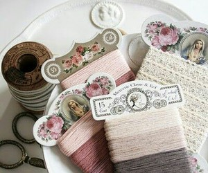 sewing, thread, and vintage image