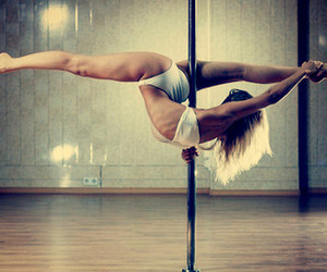 dance, pole, and pole dance image