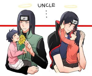 naruto, itachi, and neji image