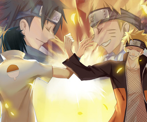 anime, naruto uzumaki, and sasuke uchiha image