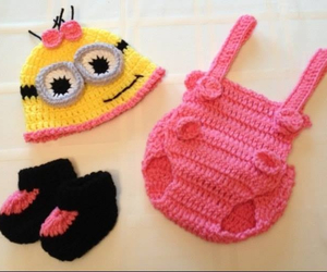 baby, minion, and clothes image