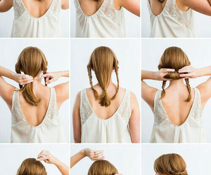 girly and hairstyle image