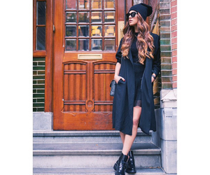 boots, inspiration, and all black image