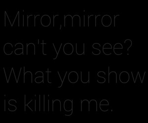 alone, mirror, and black image