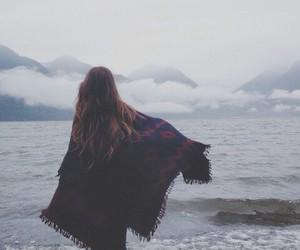 girl, sea, and sky image