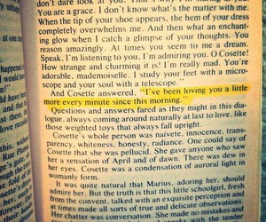 book, cosette, and quotes image