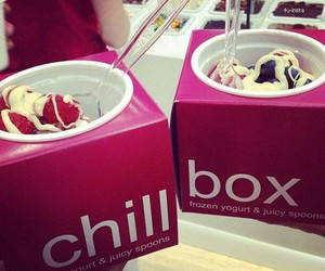 food, chill box, and ice cream image
