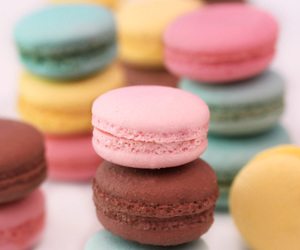 deviantart, macarons, and food image