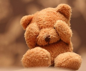 bear, brown, and teddy bear image
