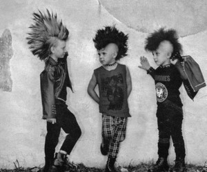 b&w, hair, and punk style image