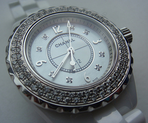 chanel, watch, and diamond image