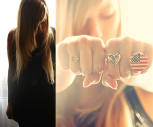 america, stripes, and love image