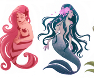 drawing and mermaids image