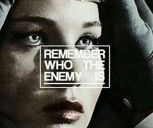 katniss everdeen, enemy, and the hunger games image