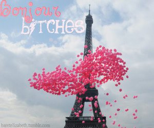 balloons, eiffel tower, and bitch image