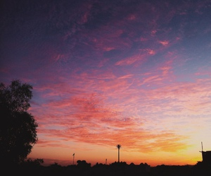 sky, beautiful, and pink image