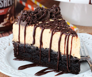 cheesecake, chocolate, and food image