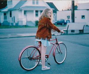 girl, bike, and vintage image