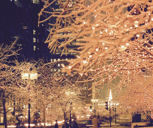 christmas, lights, and snow image