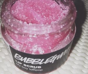 lush, pink, and scrub image