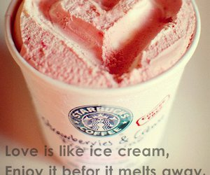 heart, text, and ice image
