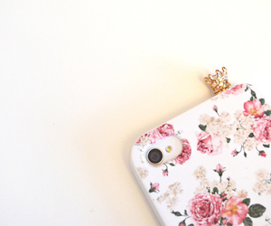 iphone, flowers, and crown image